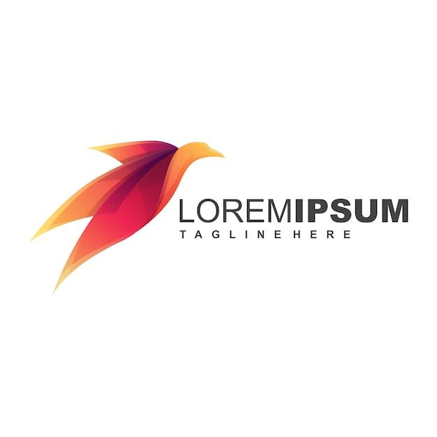 Vogel-logo Premium Vektoren