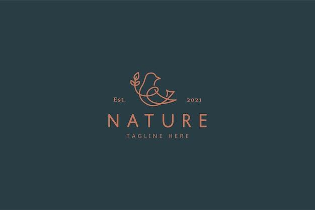 Vogel natur wild life illustration logo Premium Vektoren
