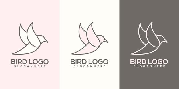 Vogellogo Premium Vektoren