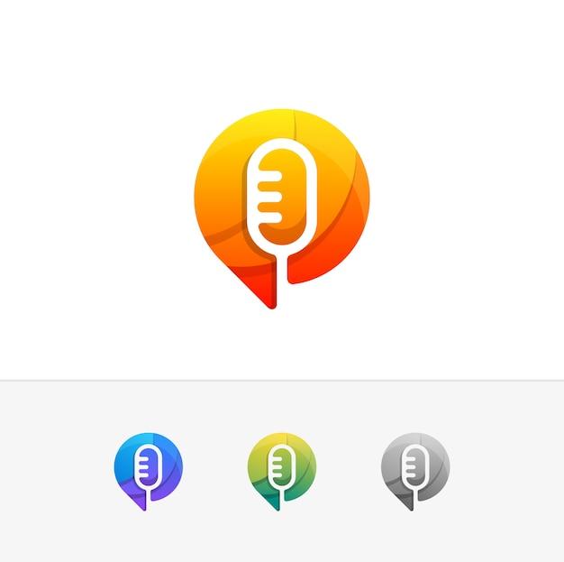Voice design konzept illustration vektor vorlage Premium Vektoren