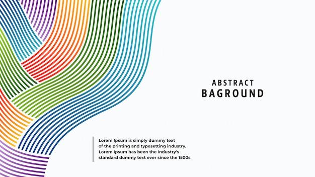 Volle farben und linien des abstrakten hintergrundes in einer schönen kombination. Premium Vektoren