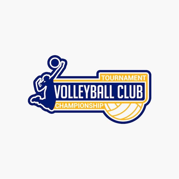 Volleyball club abzeichen Premium Vektoren