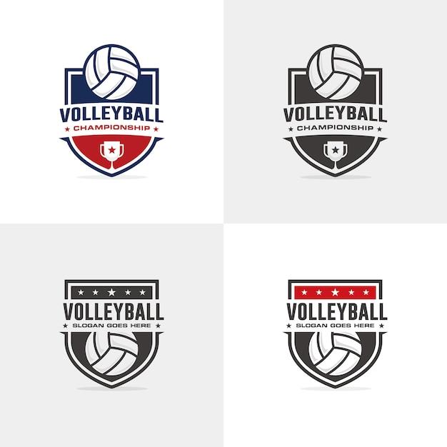 Volleyball-logo-vorlage Premium Vektoren