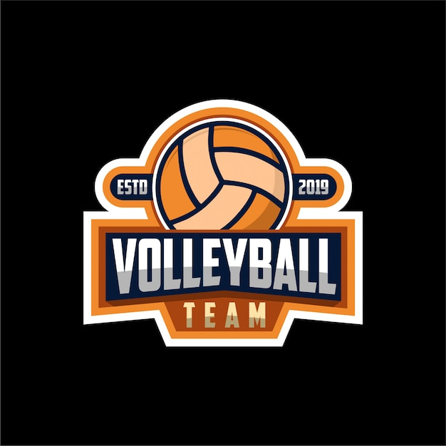 Volleyball-logo Premium Vektoren