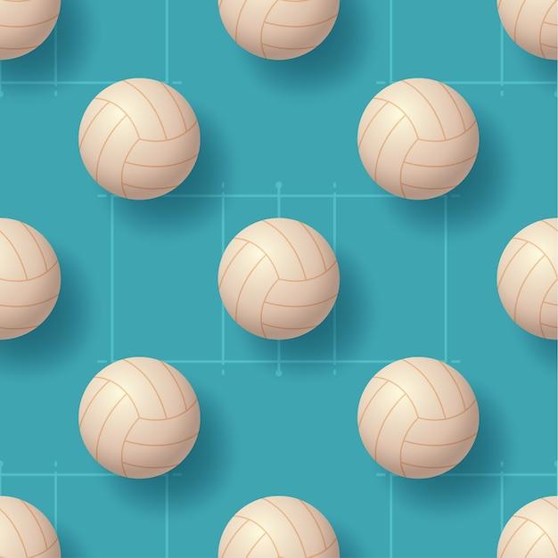 Volleyballball nahtlose pettern illustration Premium Vektoren