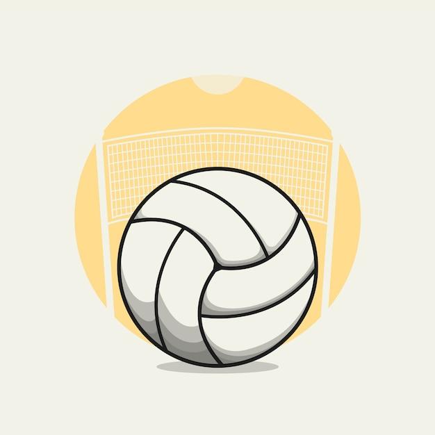 Volleyballillustrationskarikatur. Premium Vektoren