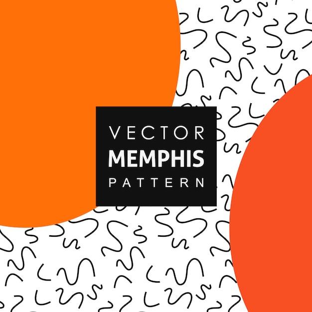 Volltonfarbe memphis pattern hintergrund Kostenlosen Vektoren