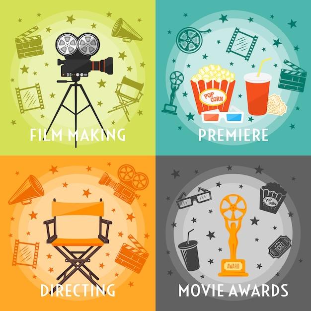 Vom filmemachen zum award-konzept Kostenlosen Vektoren