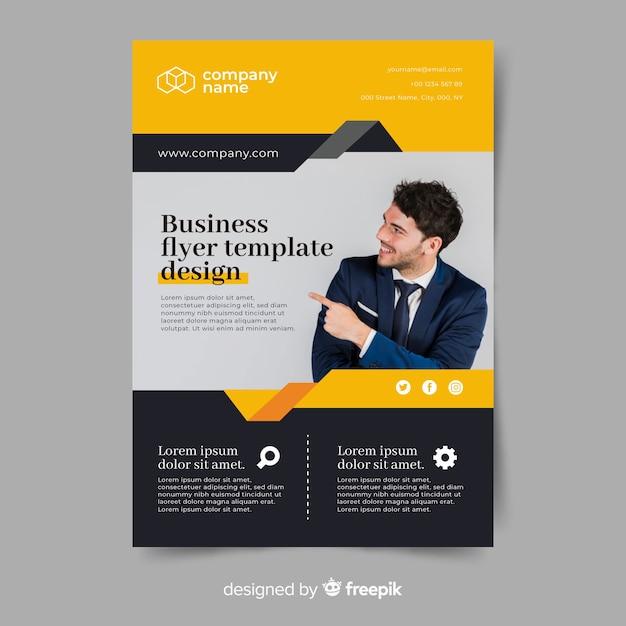 Vorlage abstrakt business flyer Premium Vektoren