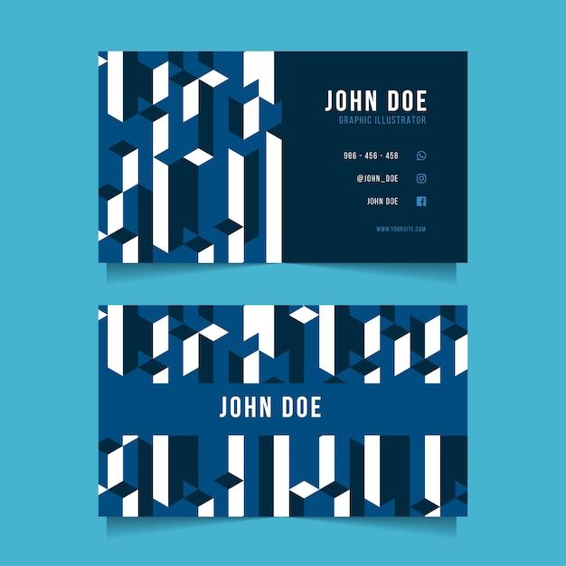 Vorlage abstrakte klassische blaue visitenkarte Kostenlosen Vektoren