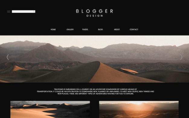 Vorlage der blog-hauptseite Kostenlosen Vektoren