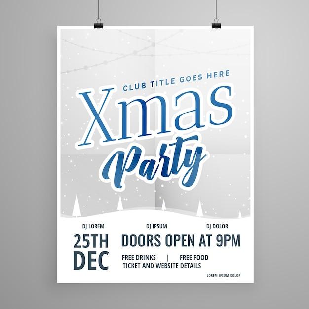 Vorlage Flyer Design für Weihnachtsfeier   Download der kostenlosen ...