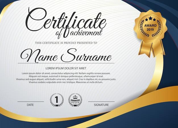 Vorlage für creative certificate of appreciation award Premium Vektoren