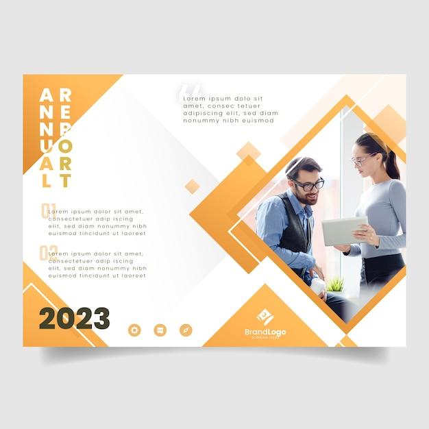 Vorlage für das geschäftsjahresmagazin Kostenlosen Vektoren