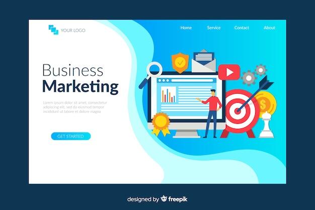 Vorlage für digitale marketing-landingpage Kostenlosen Vektoren