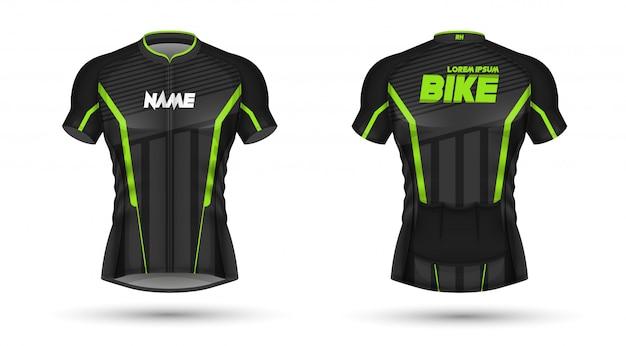 Vorlage für fahrradtrikot Premium Vektoren