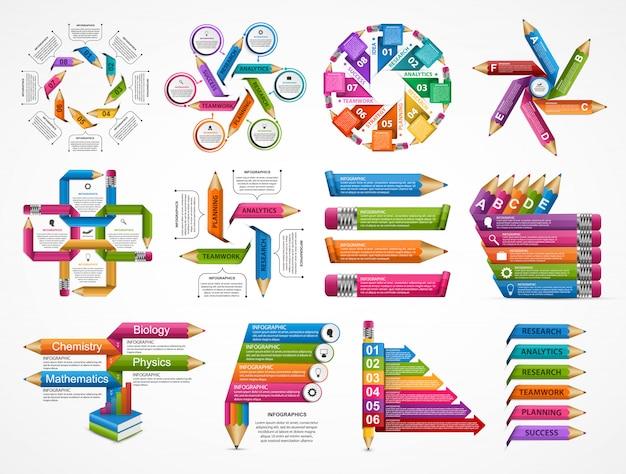 Vorlage für infographics collection collection. Premium Vektoren
