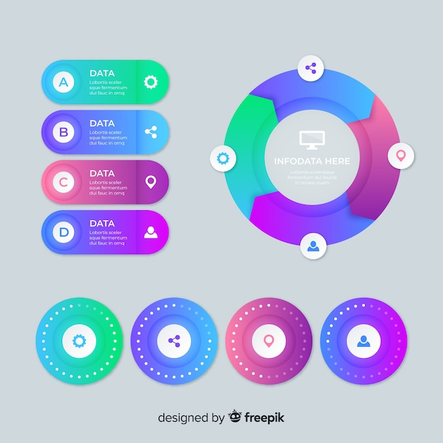 Vorlage für informative infografik-diagramme Kostenlosen Vektoren