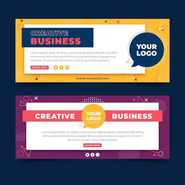 Vorlage für kreative geschäftswebbanner Premium Vektoren