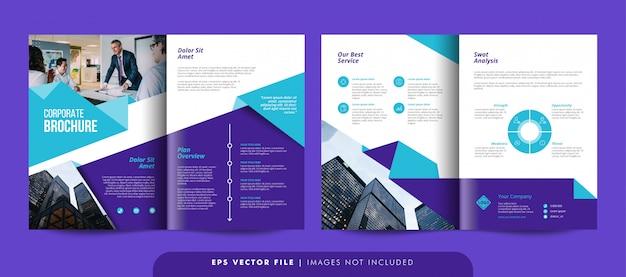 Vorlage für kreative unternehmensbroschüren. flyer-vorlage für unternehmen. Premium Vektoren