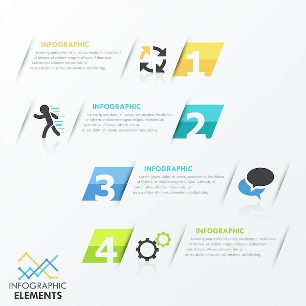 Vorlage für minimale infografikenoptionen Premium Vektoren