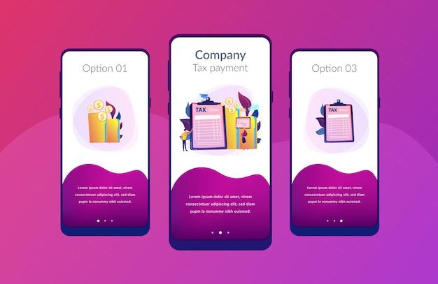Vorlage für steuerformular-app-schnittstelle Premium Vektoren