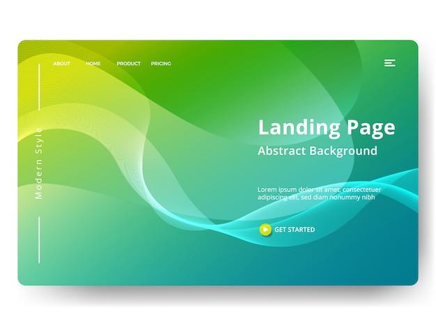 Vorlage für web-landing-page, banner, präsentation Premium Vektoren