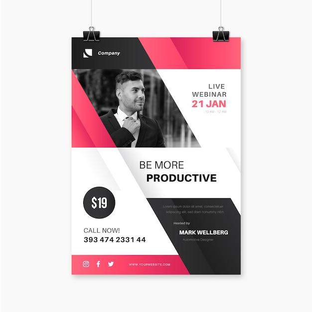 Vorlage für webinar-flyer Premium Vektoren
