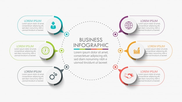 Vorlage infographik vorlage Premium Vektoren