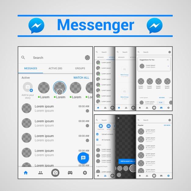 Vorlage messenger ux Premium Vektoren