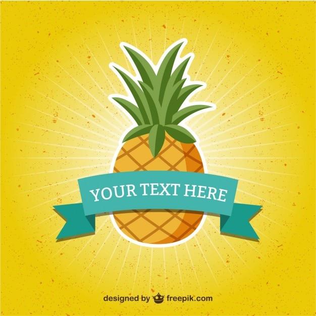 Vorlage mit ananas Kostenlosen Vektoren
