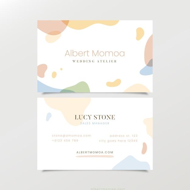 Vorlage pastellfarbenen flecken abstrakte visitenkarte Kostenlosen Vektoren