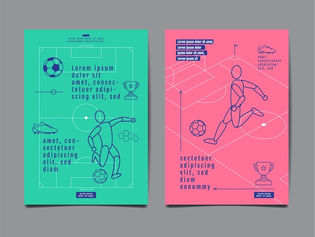 Vorlage sport layout design Premium Vektoren