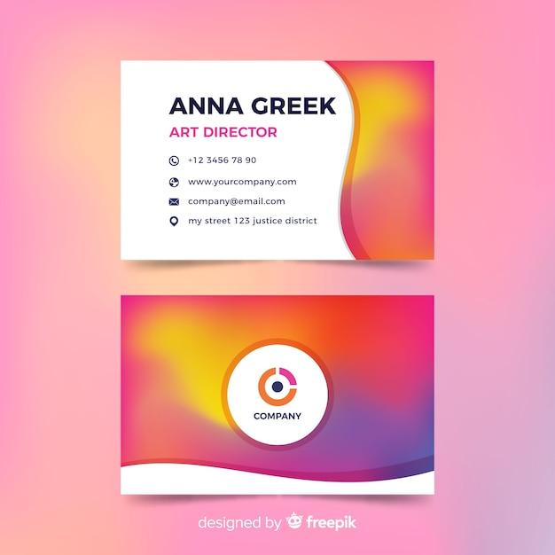 Vorlage Visitenkarte Mit Farbverlauf Download Der