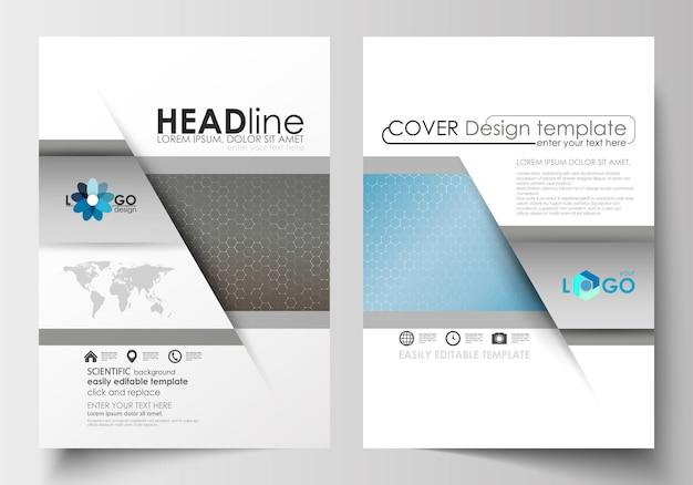 Vorlagen für broschüre, magazin, flyer, broschüre Premium Vektoren