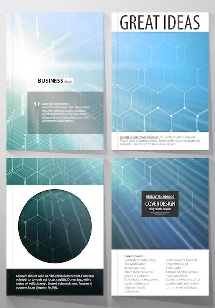 Vorlagen für broschüren, magazine, flyer oder berichte. Premium Vektoren