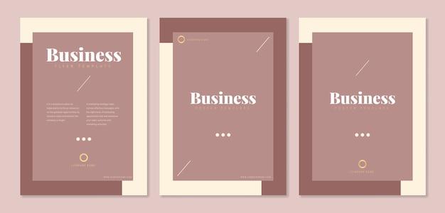 Vorlagen für unternehmensbroschüren Kostenlosen Vektoren