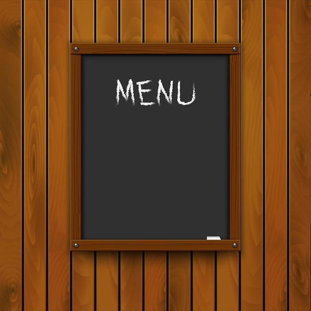 Vorschlag des küchenchefs - klassische tafel mit kreide. Premium Vektoren