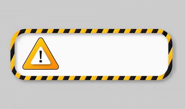 Vorsicht band warnung bannerrahmen Premium Vektoren