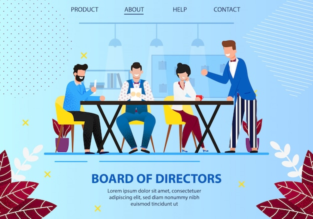 Vorstandssitzung der direktoren im amt. Premium Vektoren