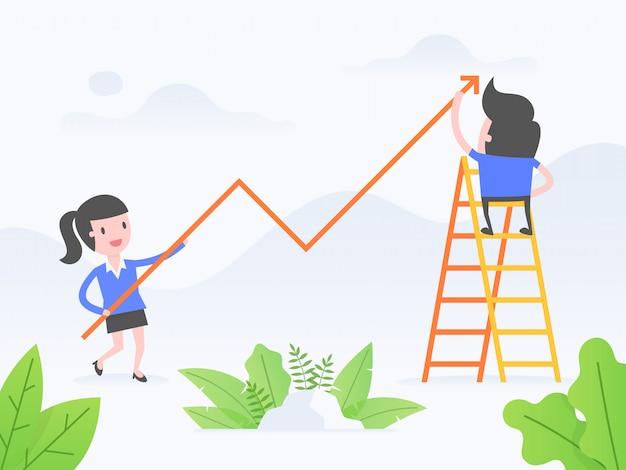 Wachstum Premium Vektoren