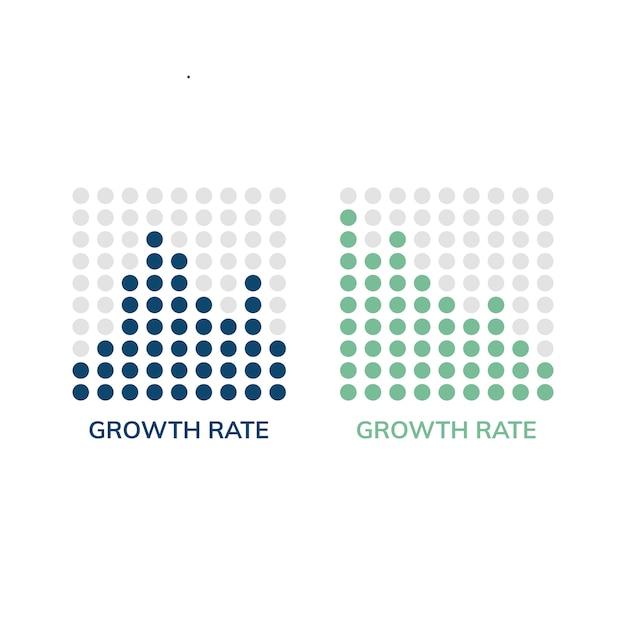 Wachstumsrate diagramm infograph vektor Kostenlosen Vektoren