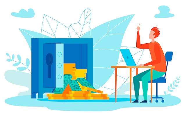 Währungsreserven-analyse Premium Vektoren