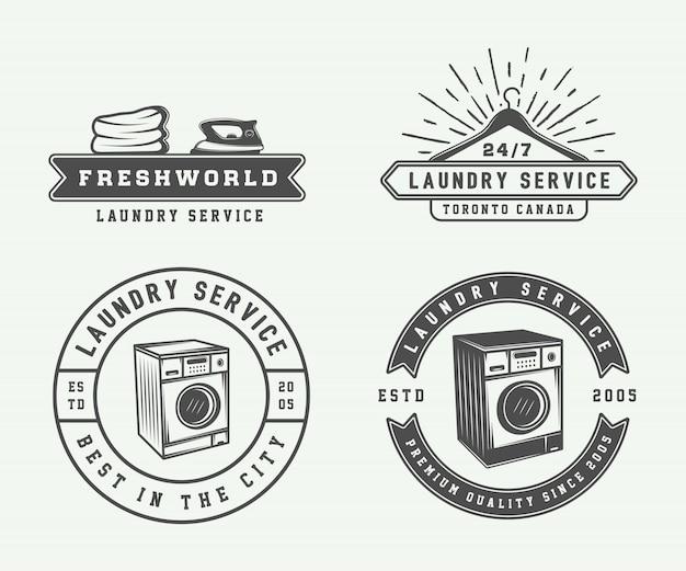 Wäsche, reinigung Premium Vektoren