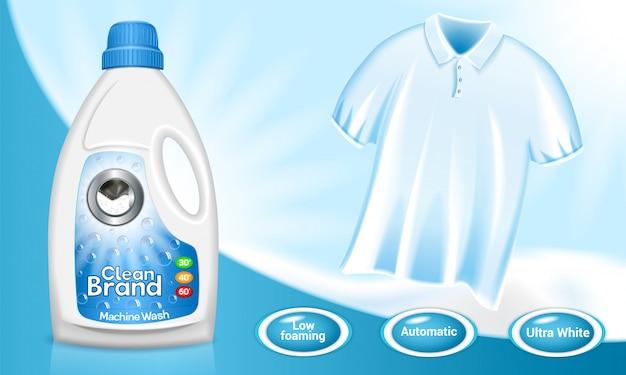 Wäschekonzept hintergrund Premium Vektoren