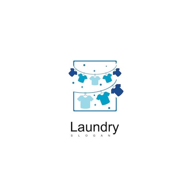 Wäscheservice logo design vektor Premium Vektoren