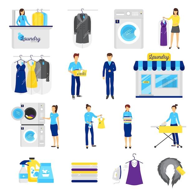 Wäscheservice-set Kostenlosen Vektoren