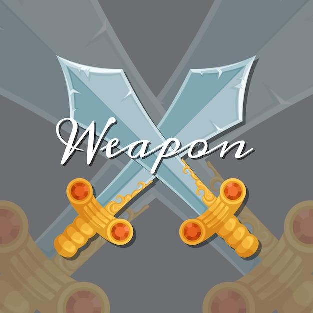 Waffe Premium Vektoren