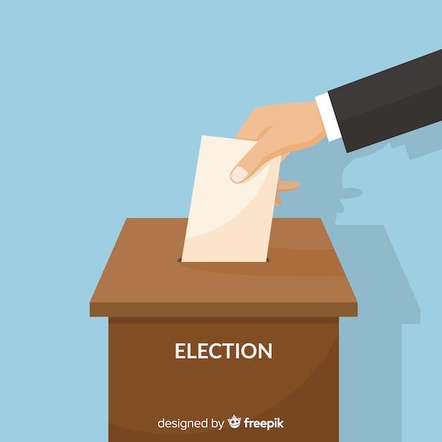 Wahl-box-design Kostenlosen Vektoren
