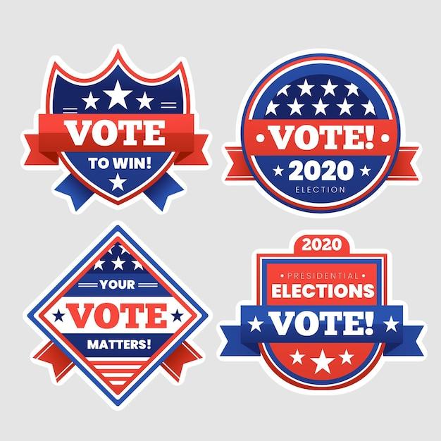 Wahlabzeichen sammlung Kostenlosen Vektoren